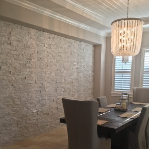 Interior Accent Walls With Stacked Stone Panels